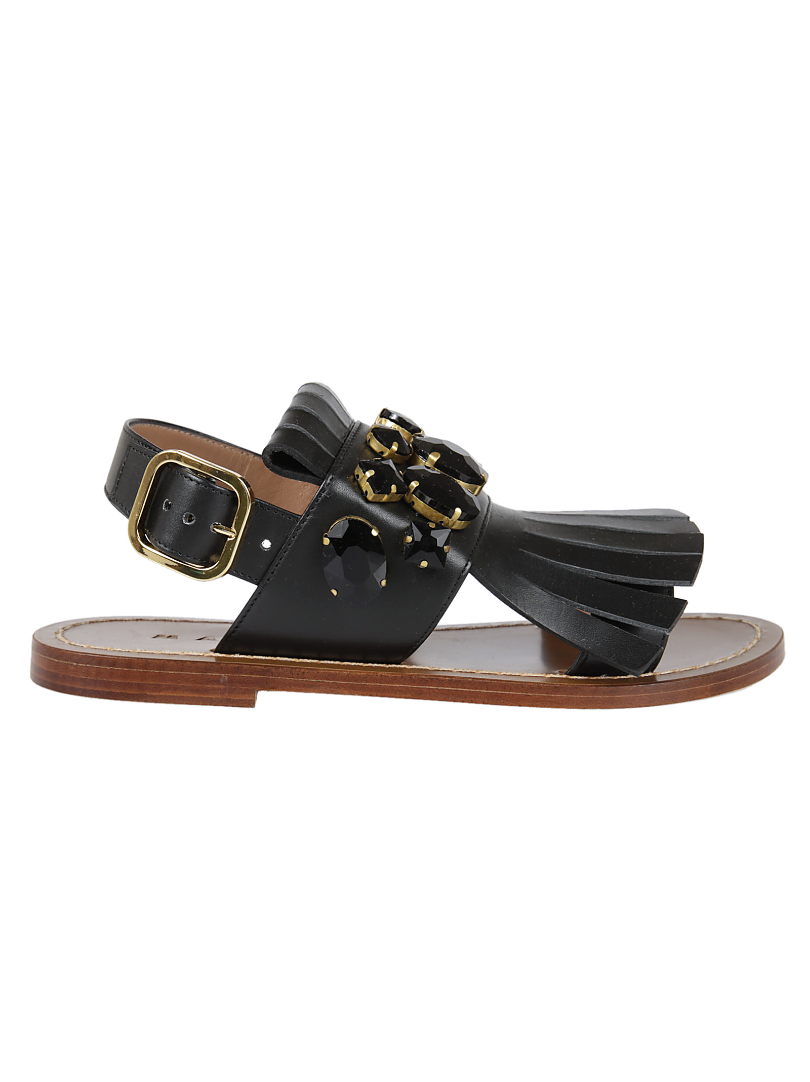 Marni Marni Embellished Flat Sandals