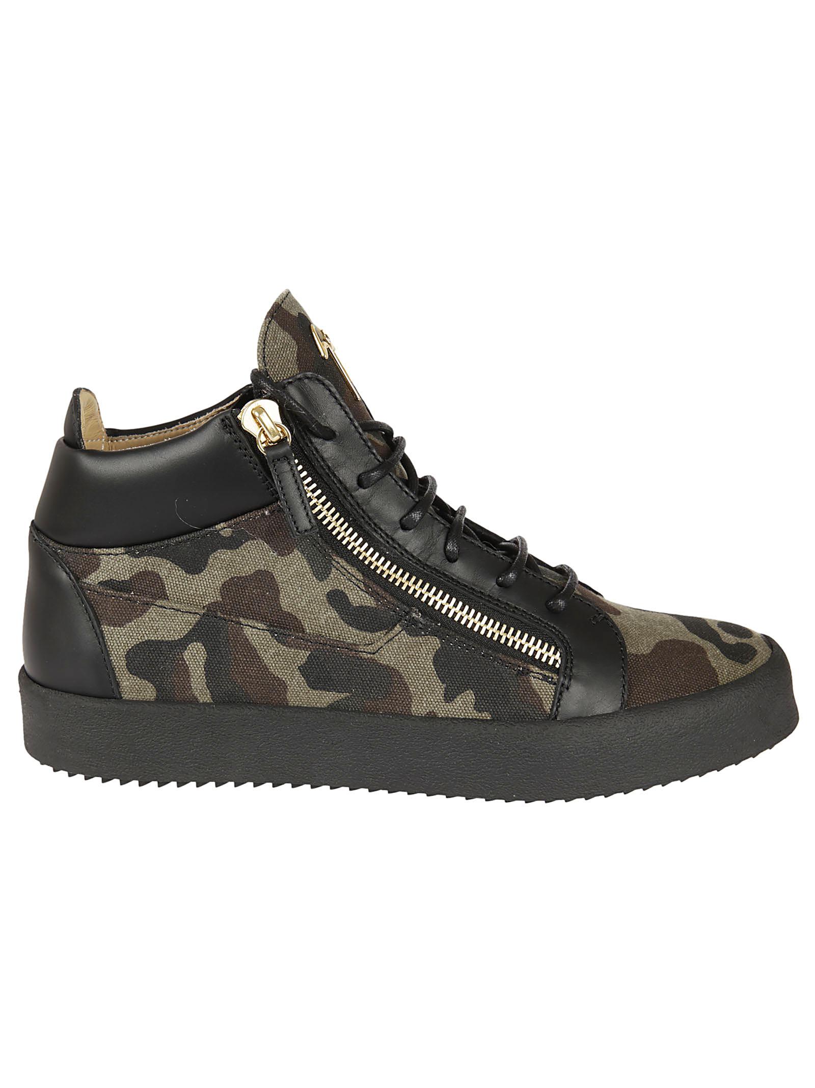 Giuseppe Zanotti Giuseppe Zanotti Camouflage Kriss Mid-Top Sneakers