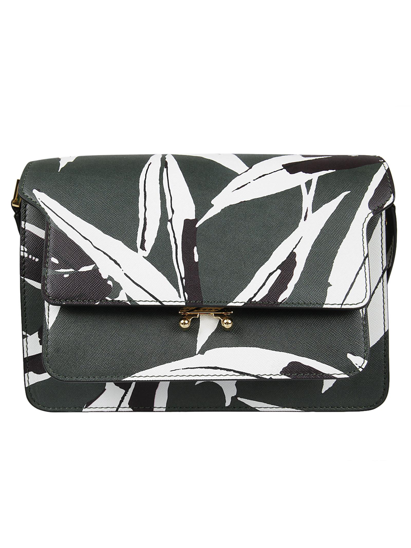 Marni Marni Floral Print Shoulder Bag