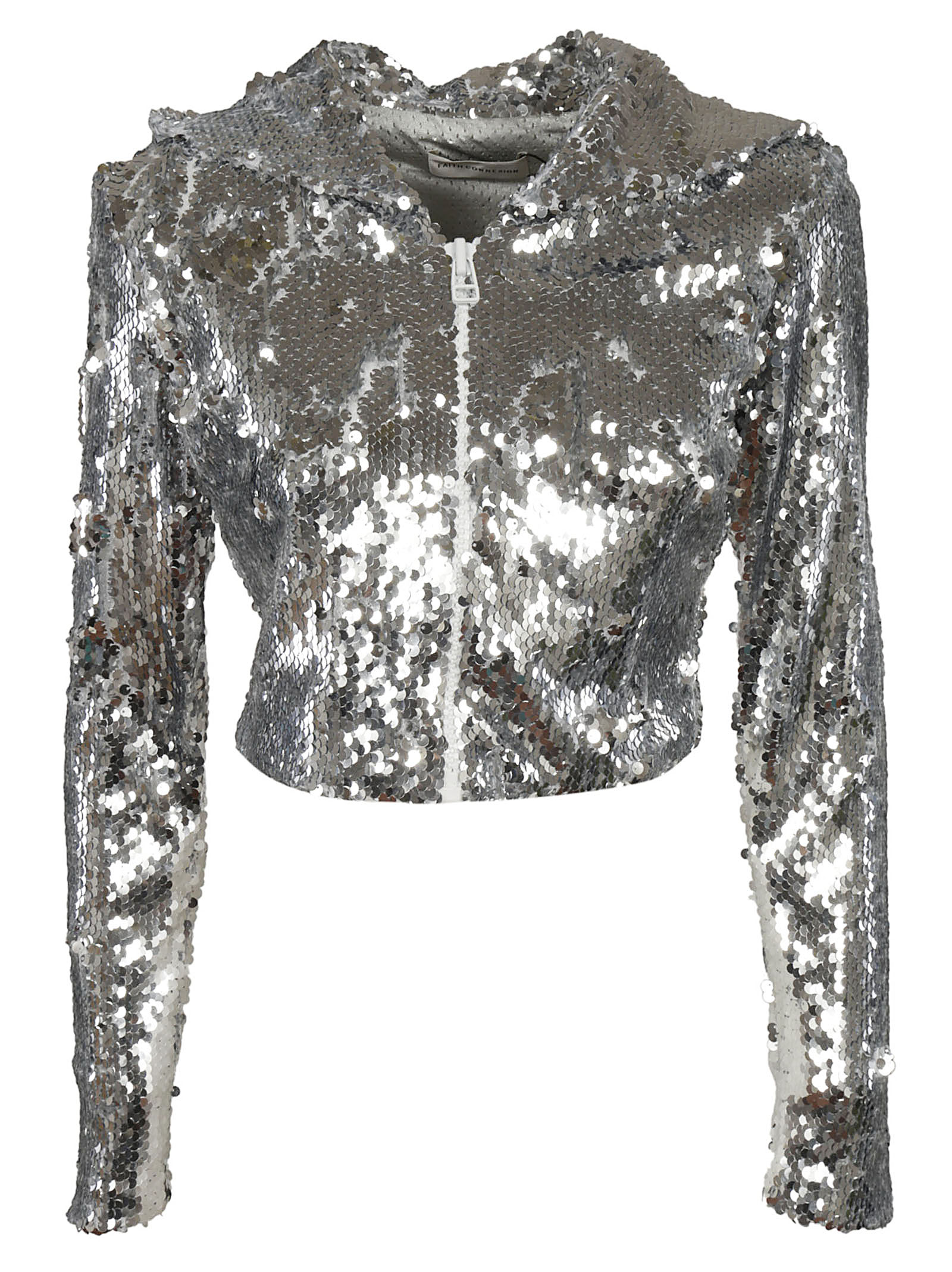 Faith Connexion Sequins Cropped Hooded