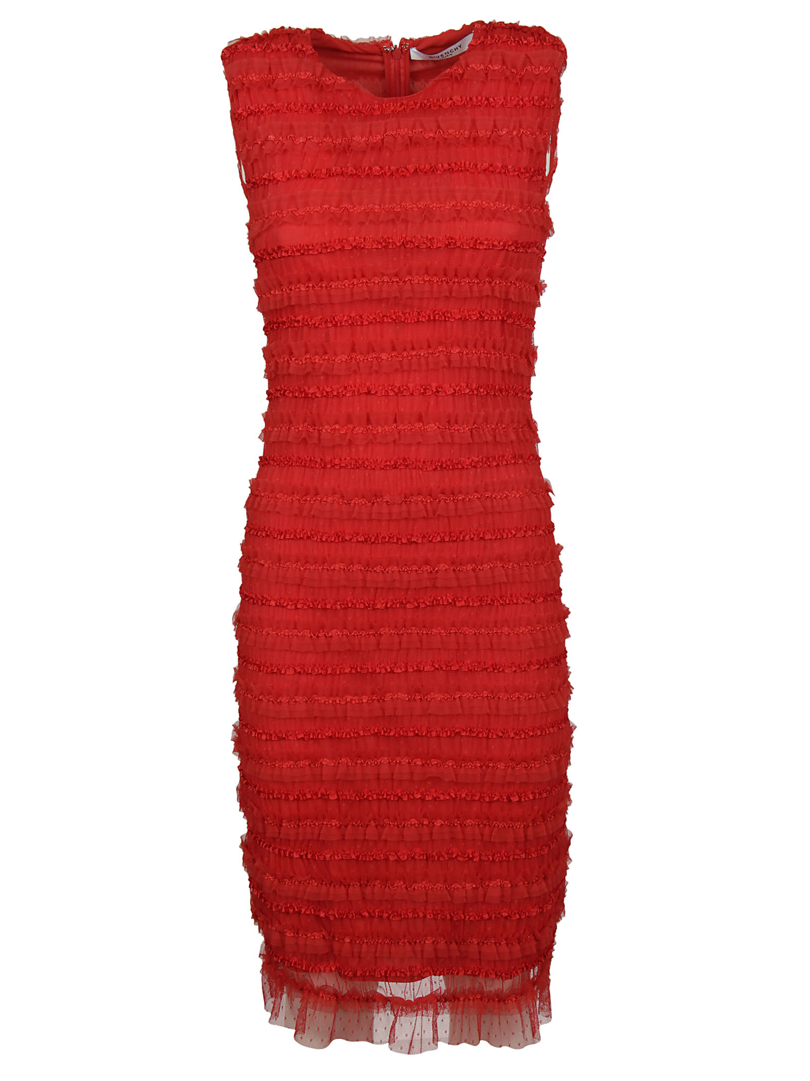 Givenchy Givenchy Ruffle Embellished Pencil Dress