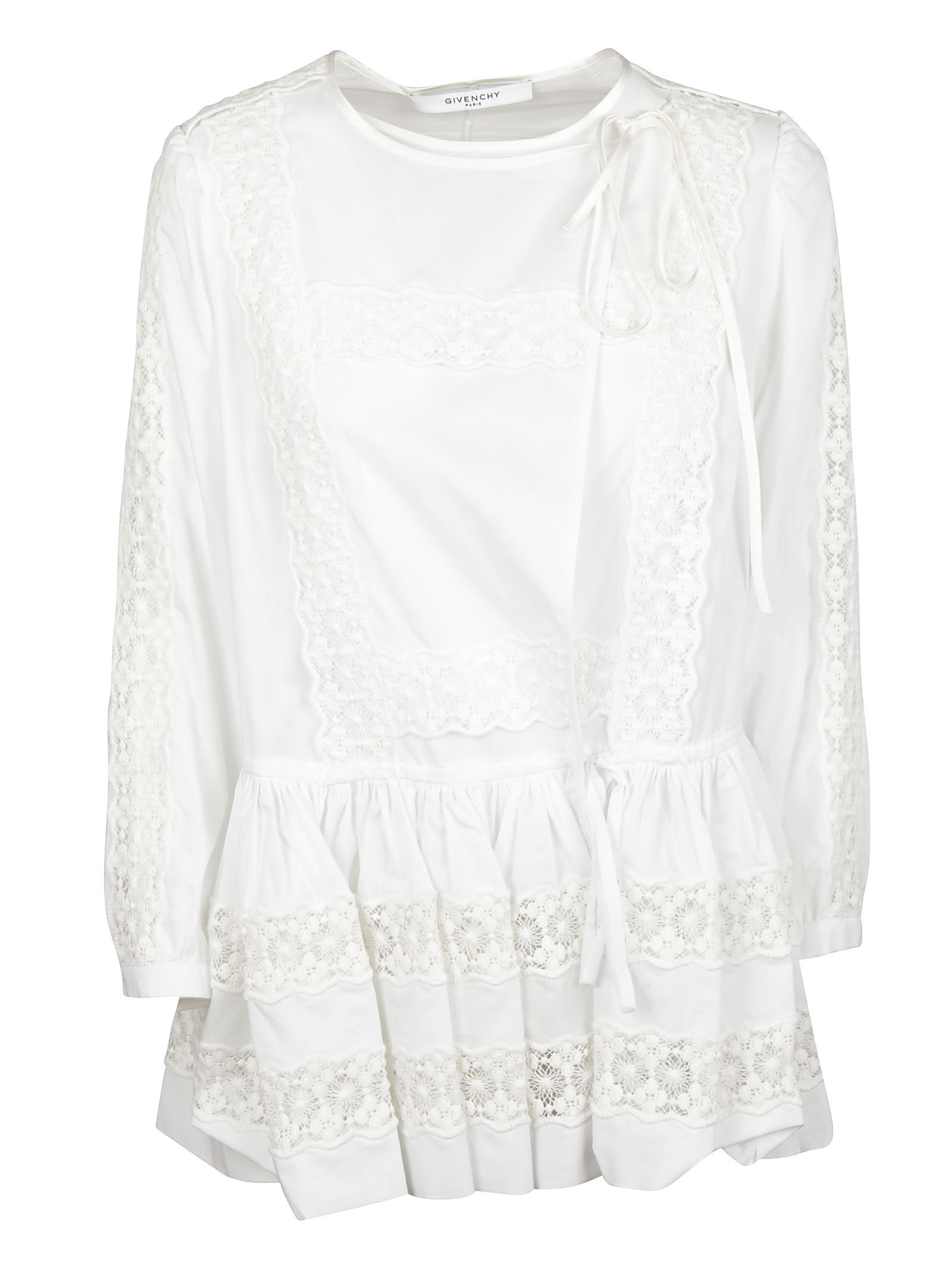 Givenchy Givenchy Side Tie Flared Blouse
