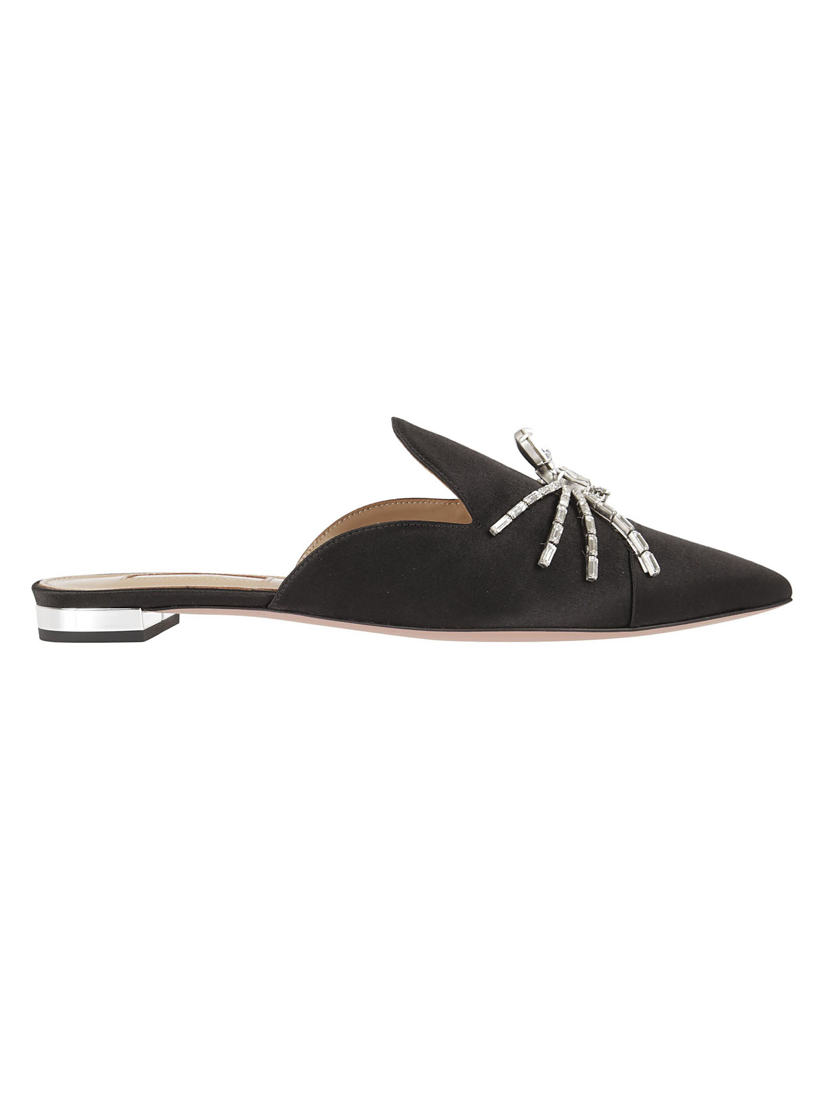 aquazzura Crystal Spider Flat