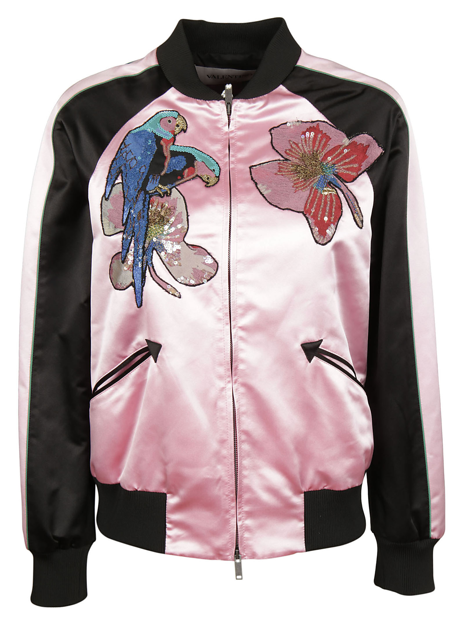 Valentino Valentino Embroidered Patch Bomber