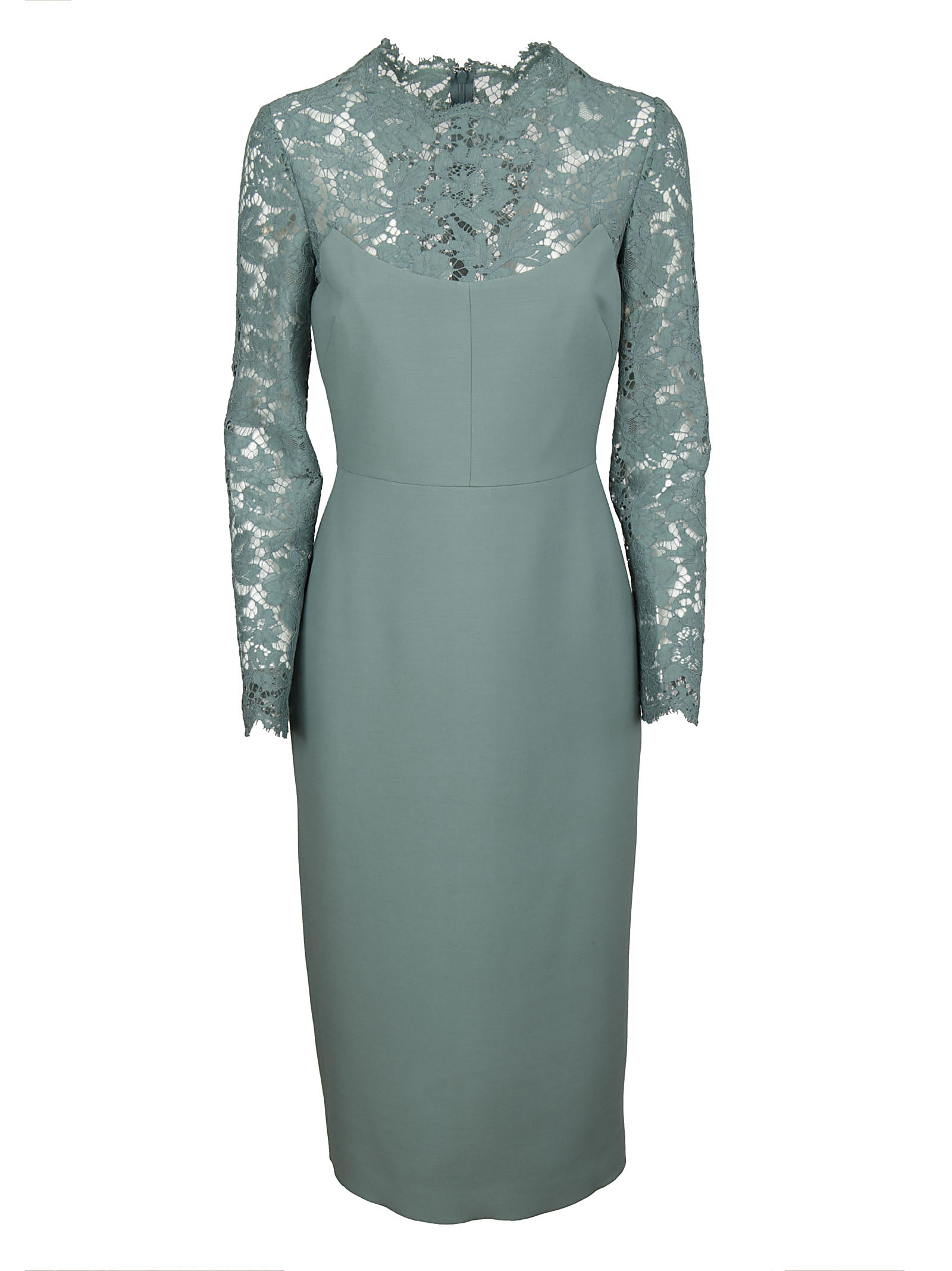 Valentino Valentino Embroidered Lace Dress