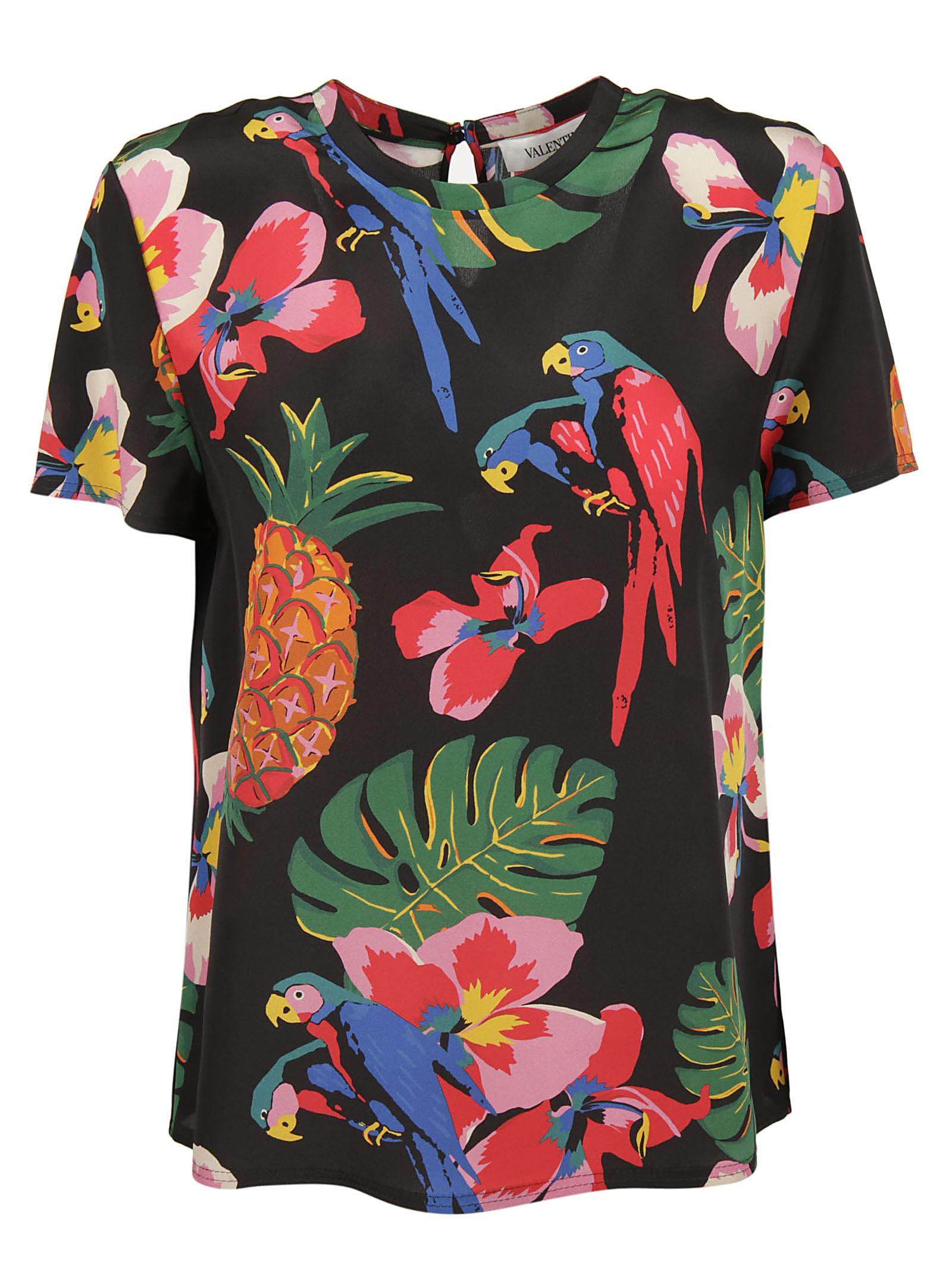 Valentino Valentino Tropical Print T-shirt