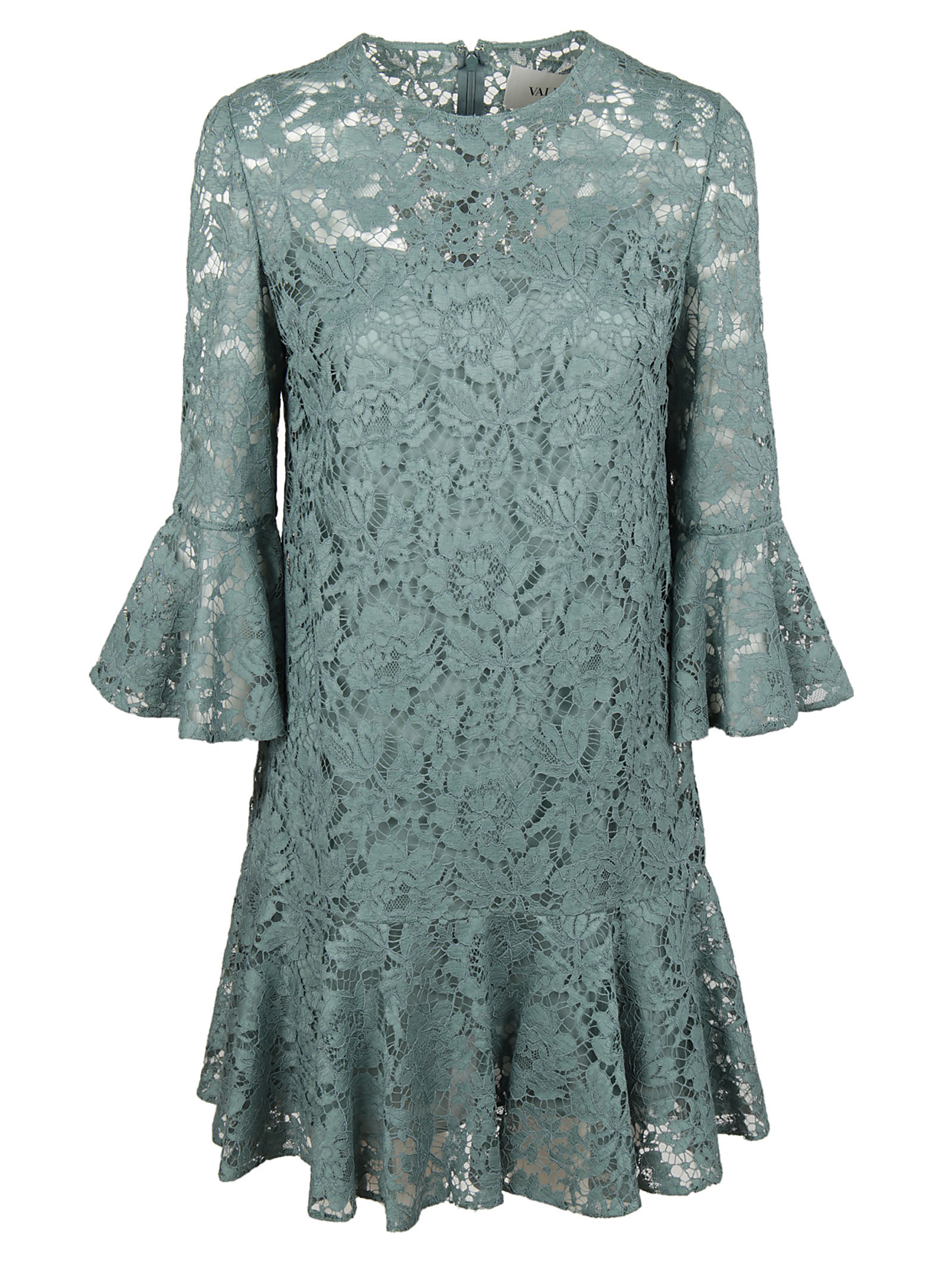 Valentino Valentino Ruffled Guipure Lace Mini Dress