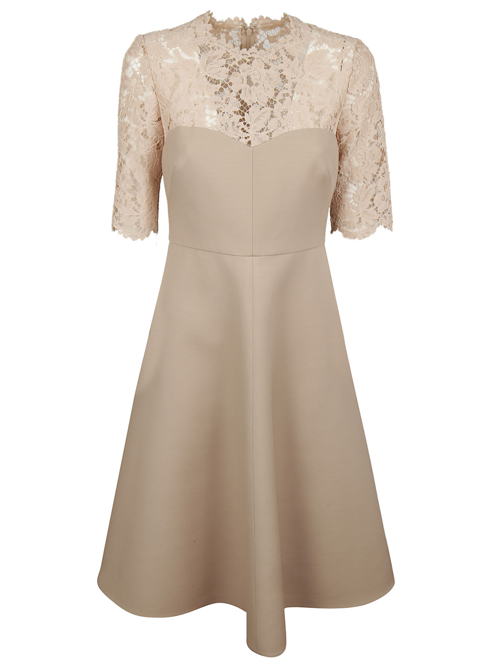 Valentino Valentino Corded Lace And Crepe Dress