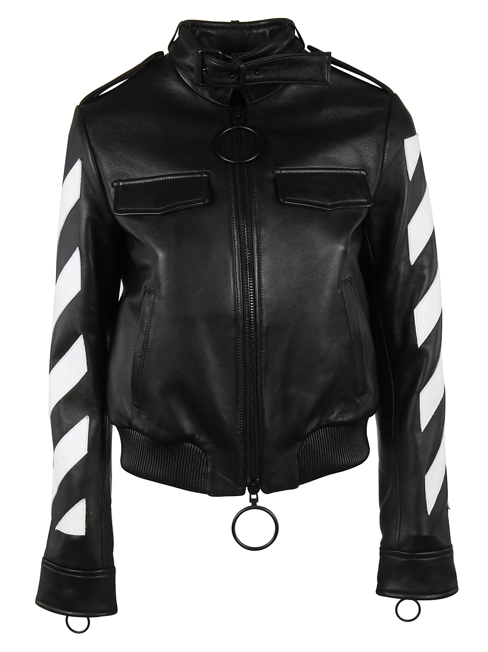 Off-White Off White Contrast Zip-up Jacket