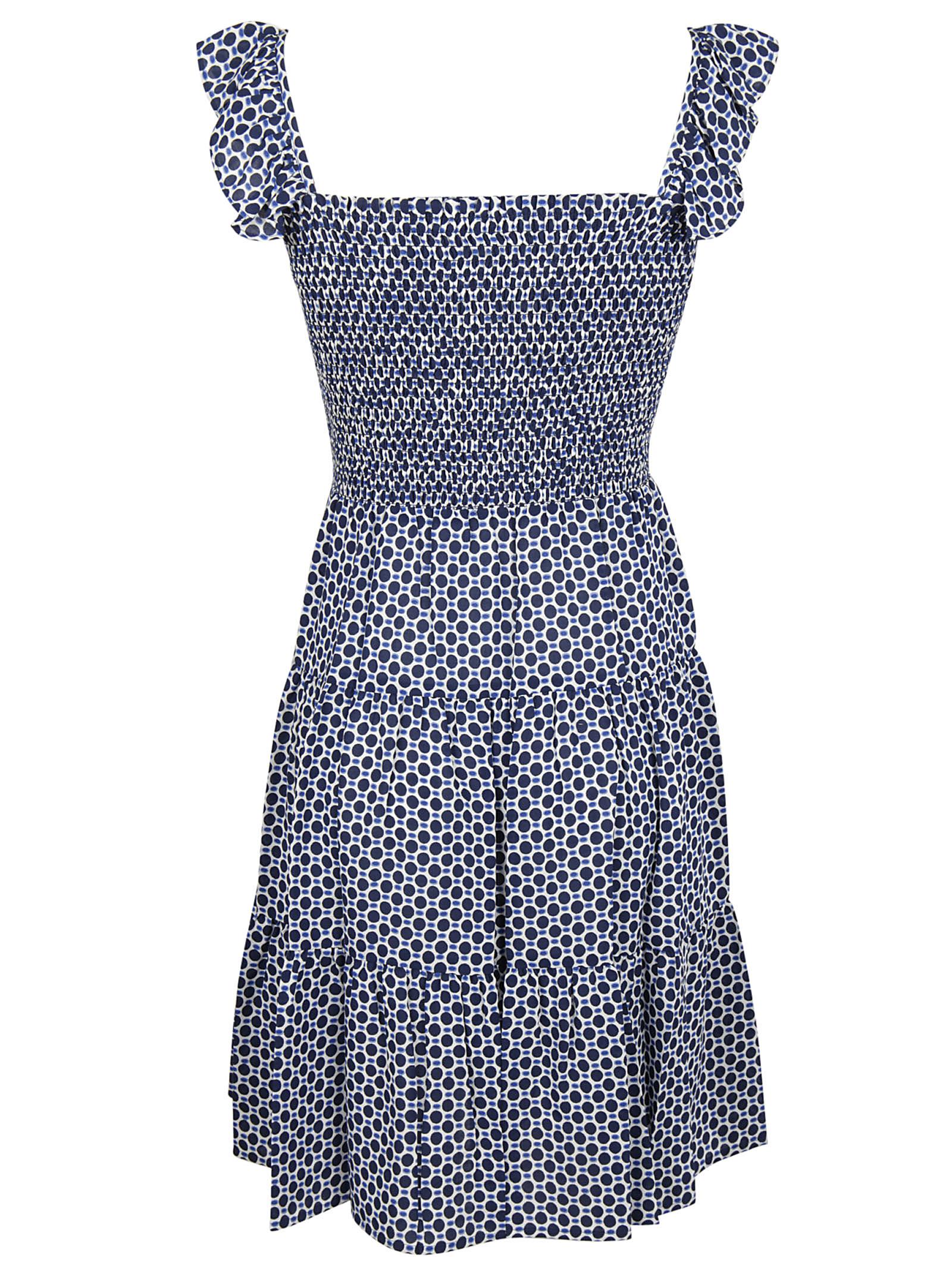 Tory Burch Tory Burch Dot Print Smocked Dress