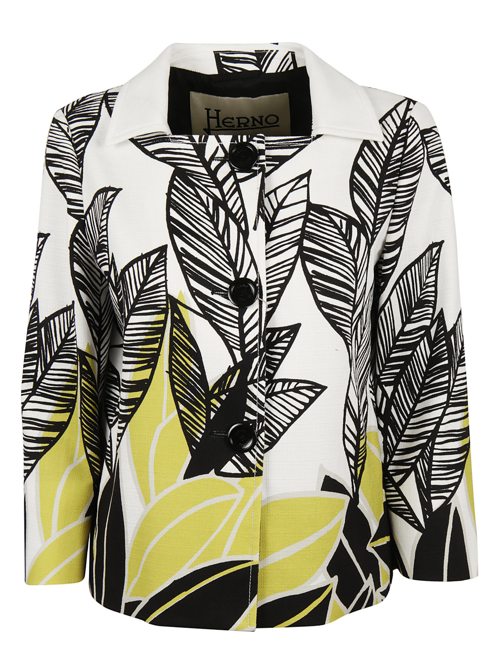 Herno Herno Printed Leaves Blazer