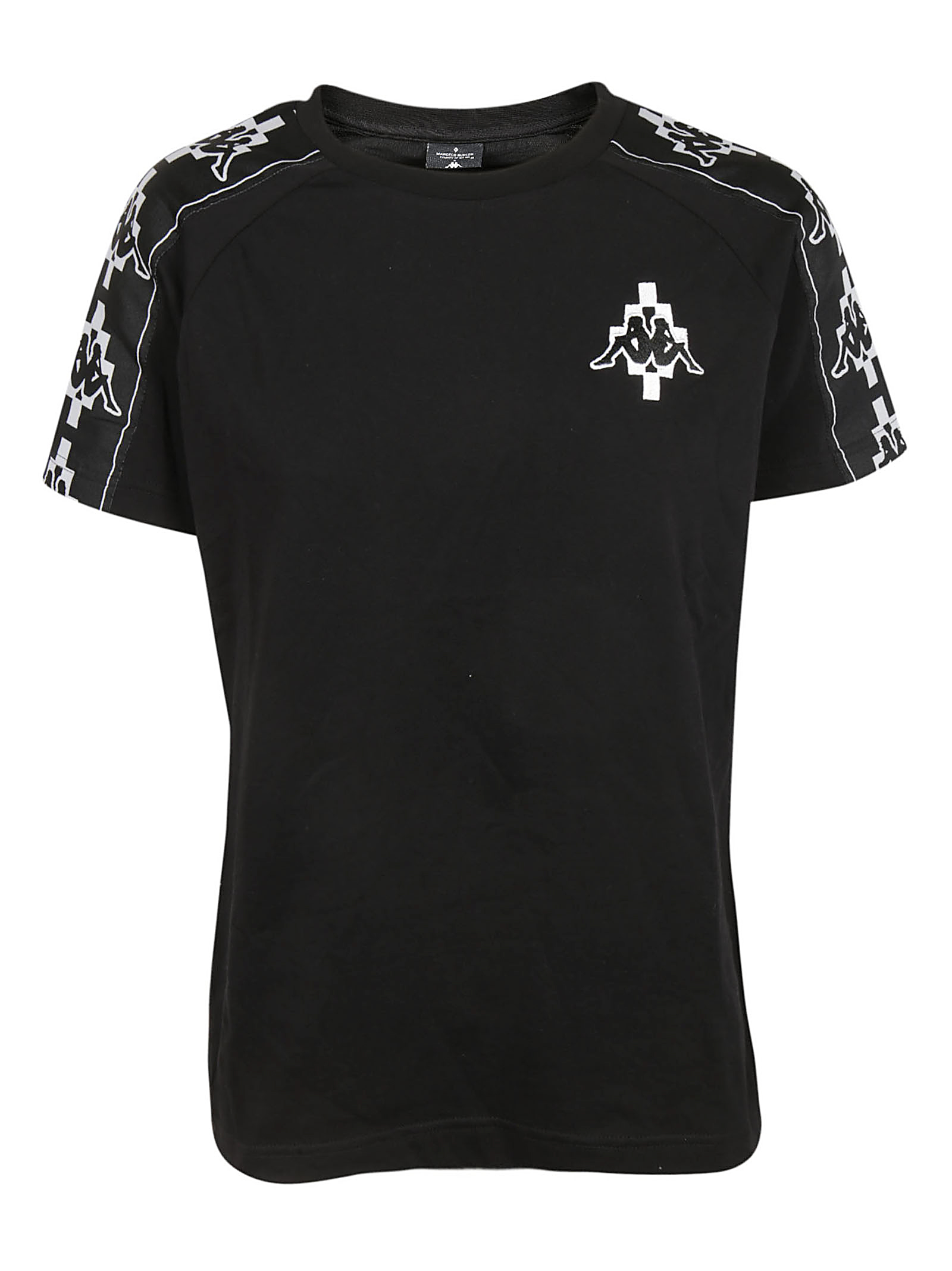 Marcelo Burlon Man KAPPA TAPE T-SHIRT BLACK WHITE