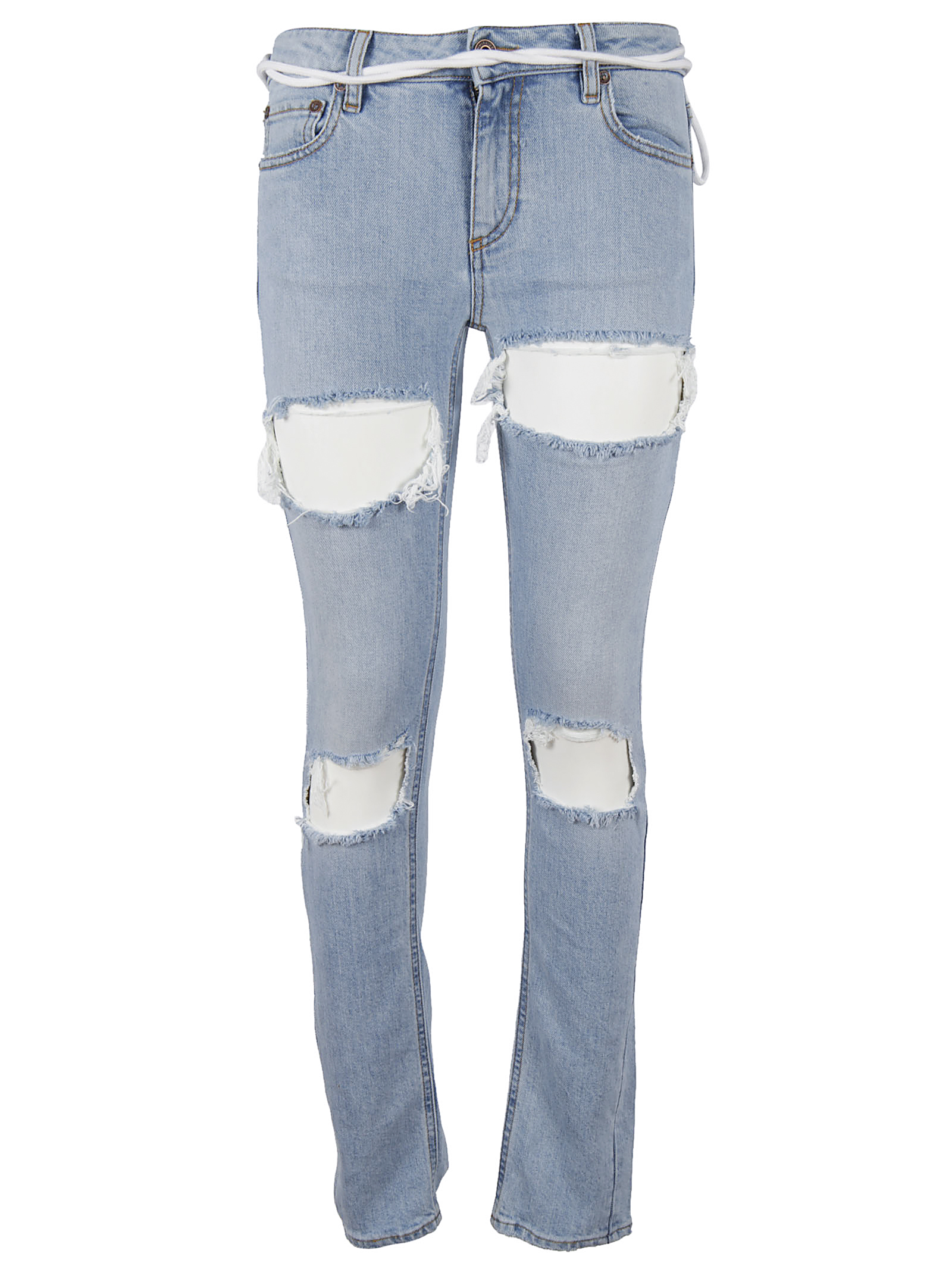 Off-White Off White Ripped Jeans