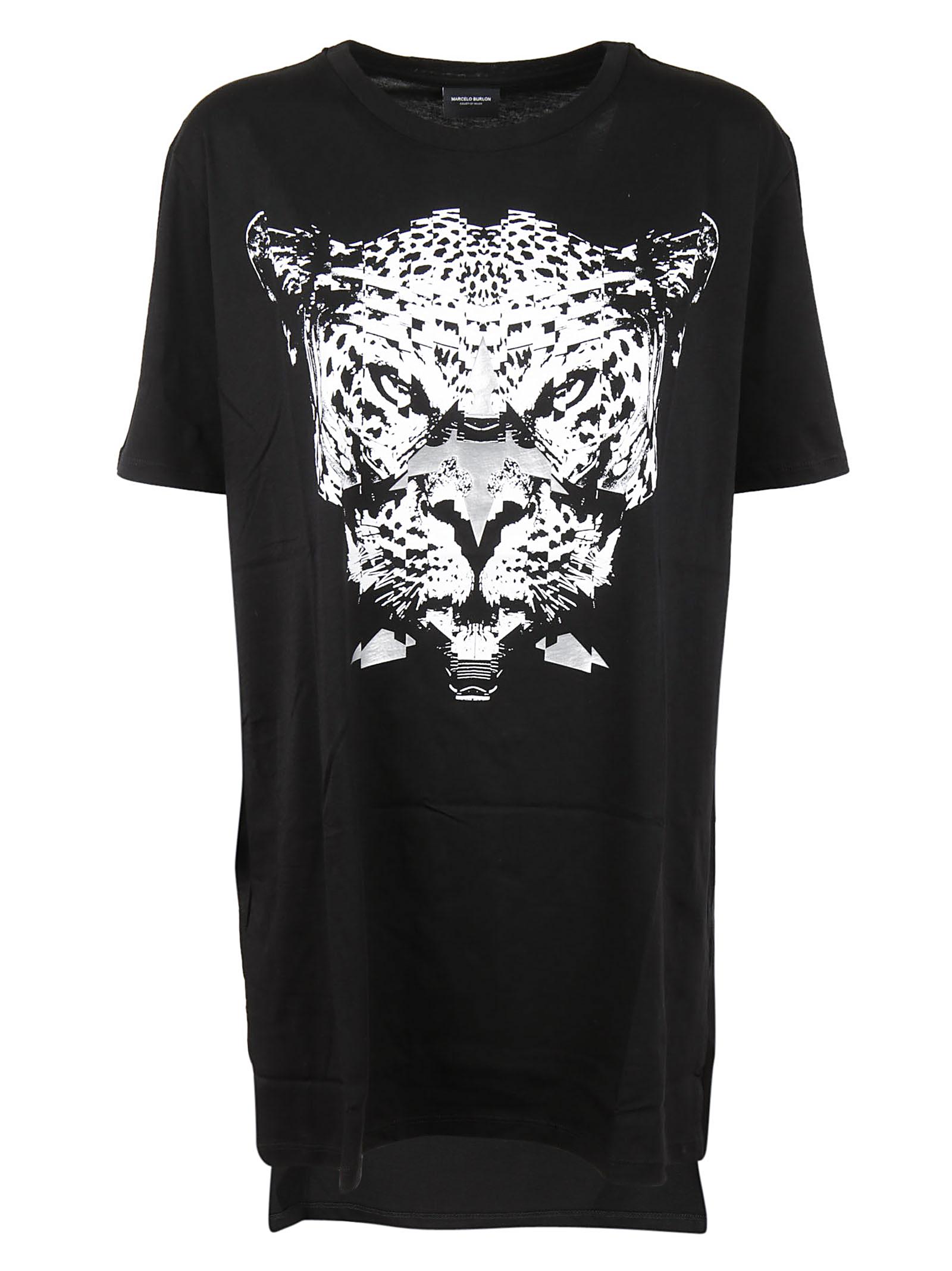 MARCELO BURLON WOMAN Marcelo Burlon Leopard Print T-shirt