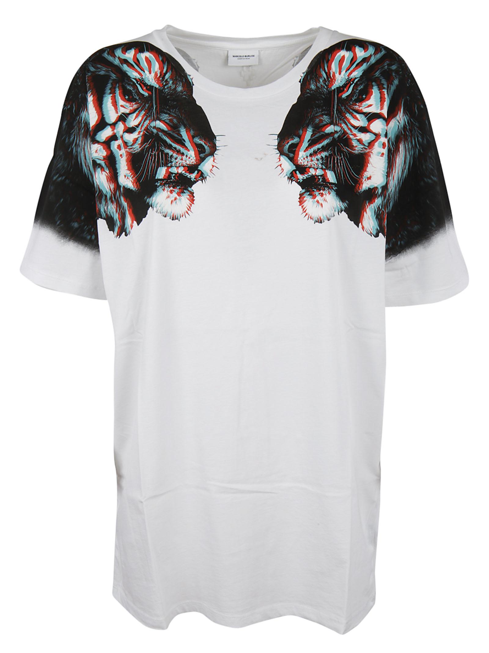 MARCELO BURLON WOMAN Marcelo Burlon Tiger Print T-shirt