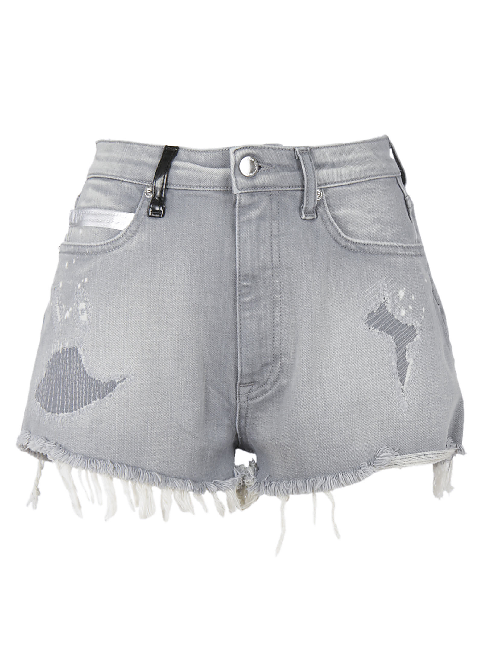 MARCELO BURLON WOMAN Marcelo Burlon Distressed Denim Shorts