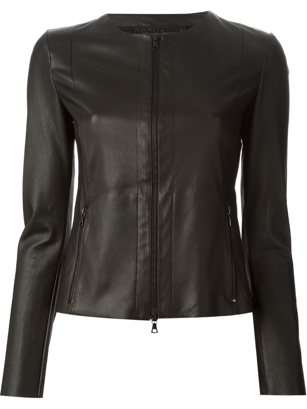 DROMe DROMe Fitted Leather Jacket