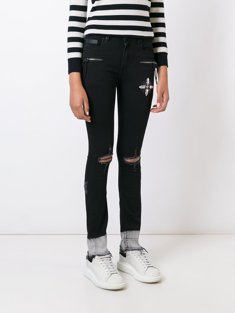 MARCELO BURLON WOMAN KEIRA SLIM FIT DENIM
