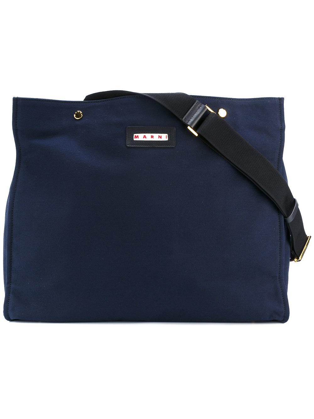Marni Marni Logo Patch Shoulder Bag