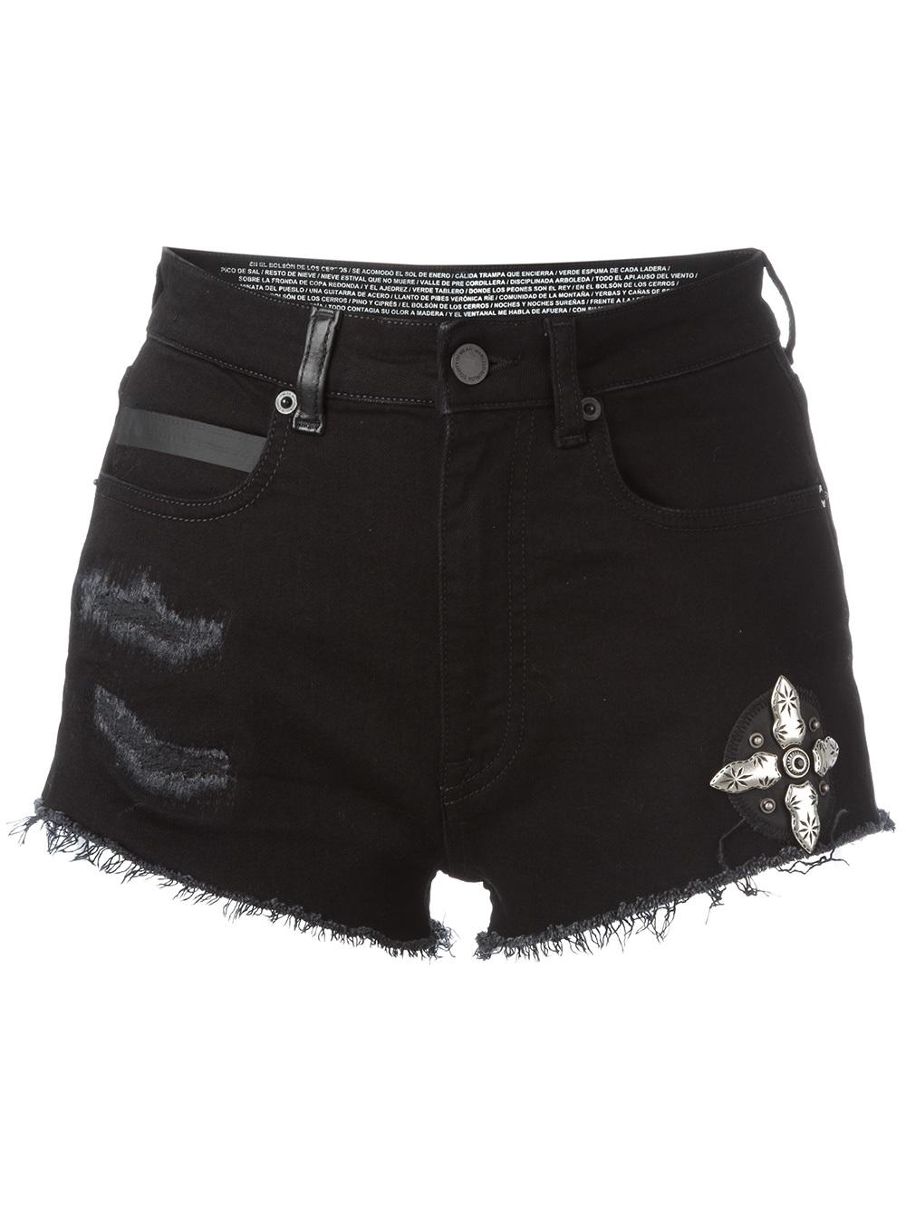 MARCELO BURLON WOMAN CANDY SHORT JEANS