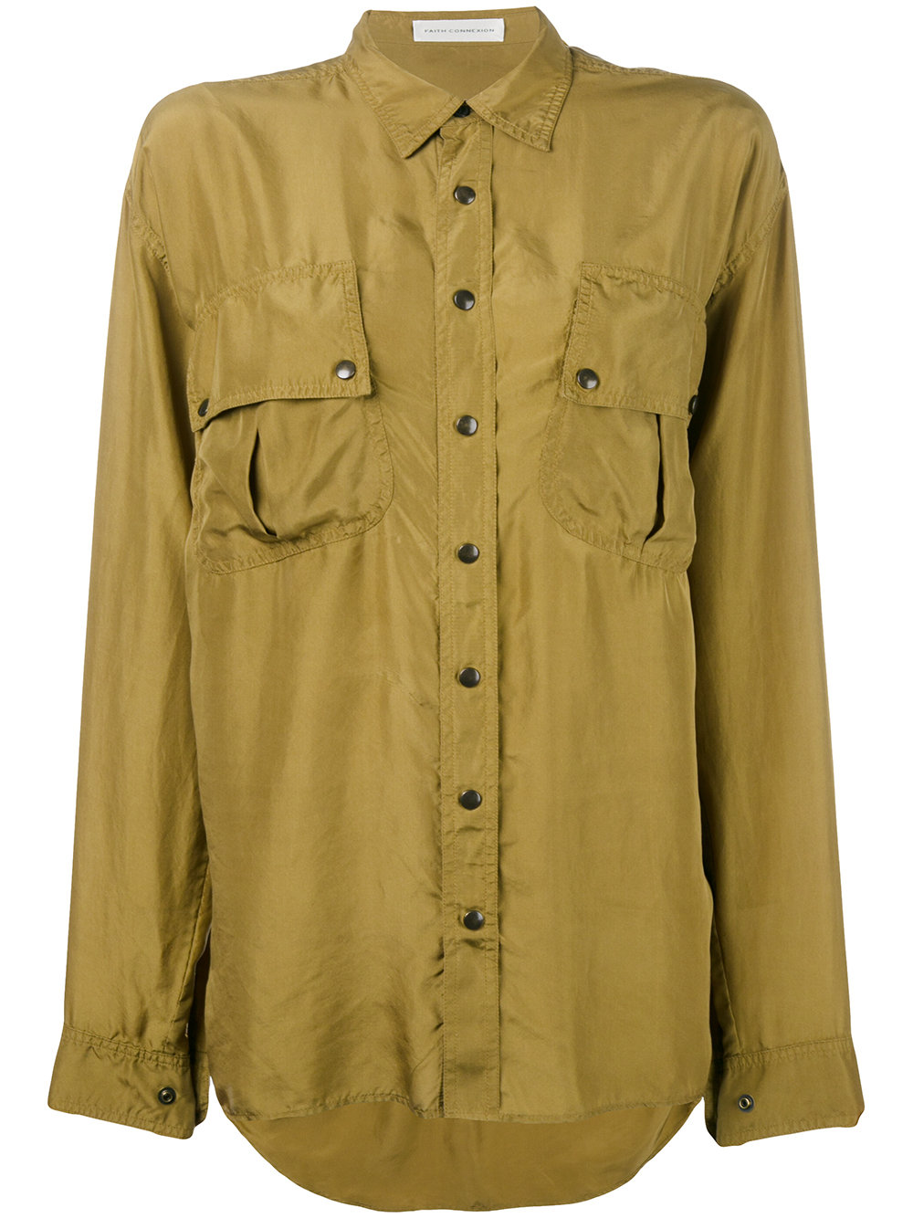 Faith Connexion PONGE SILK SHIRT