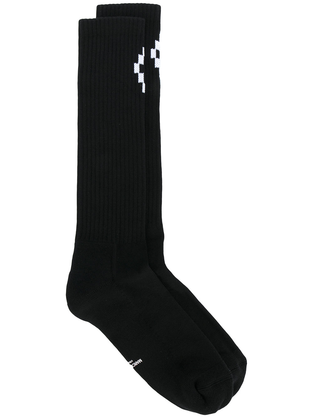 Marcelo Burlon Man CRUZ LONG SOCKS MILITARY GREEN BLACK