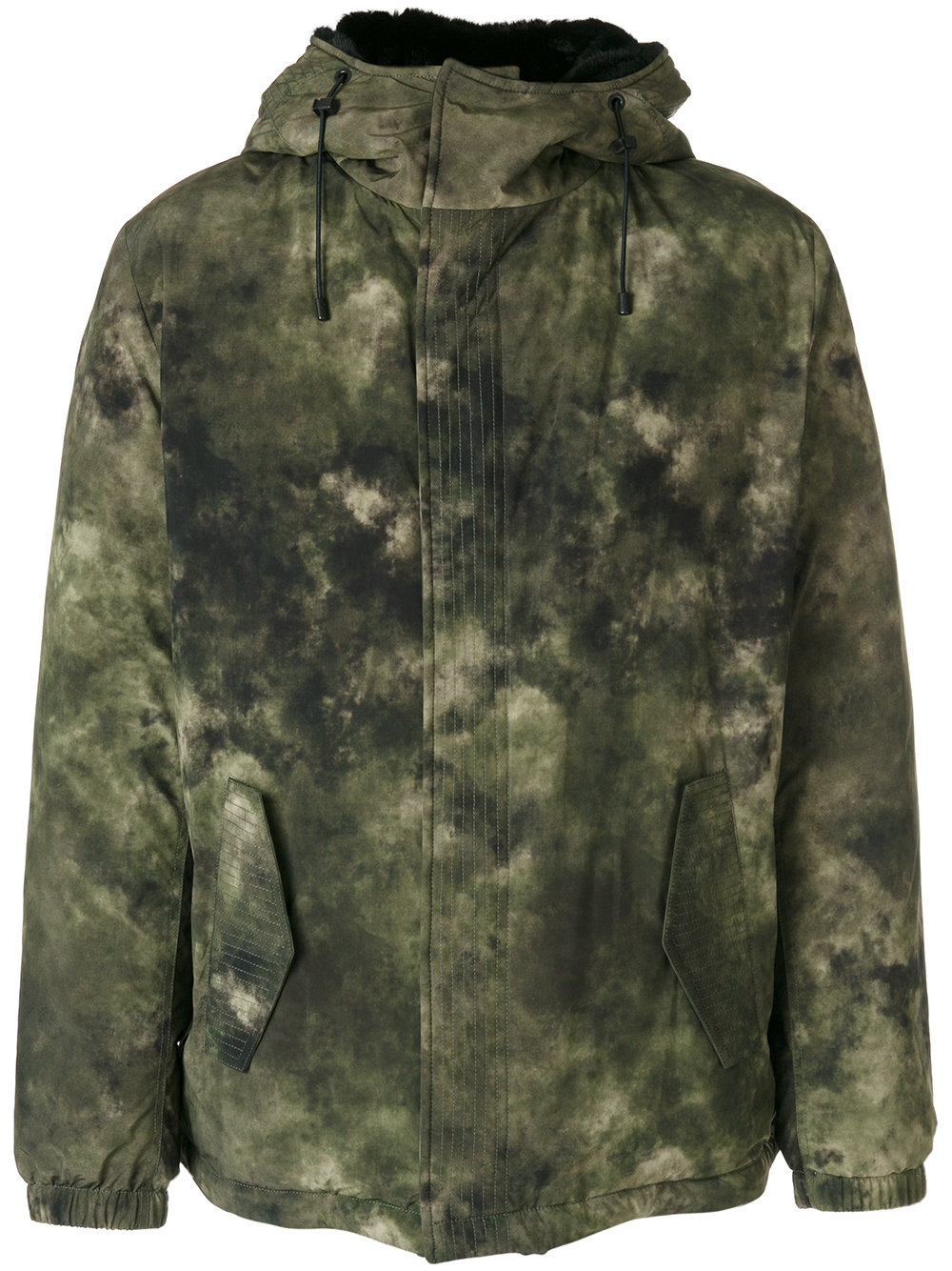 Marcelo Burlon Man TECKS PARKA MULTICOLOR MULTICOLOR