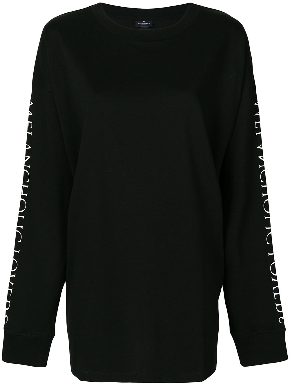 Marcelo Burlon Man UPLANK OVER T-SHIRT L/S BLACK WHITE