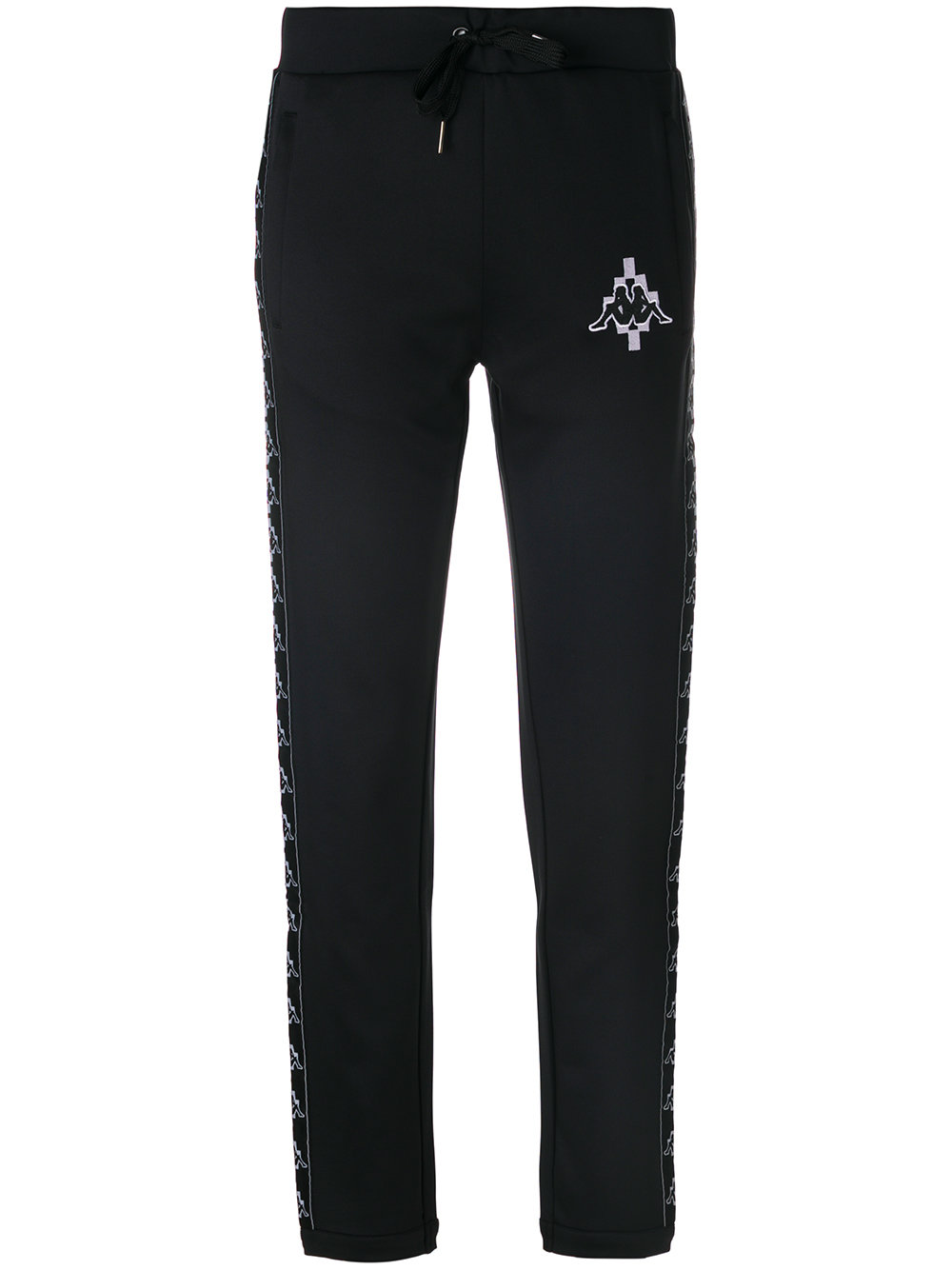 MARCELO BURLON WOMAN KAPPA PANTS BLACK WHITE