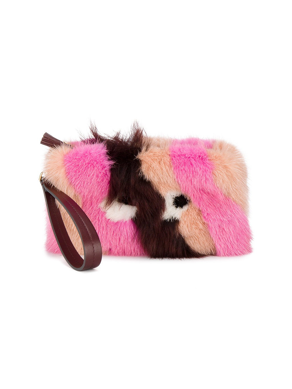 Anya Hindmach furry clutch eyes in mink