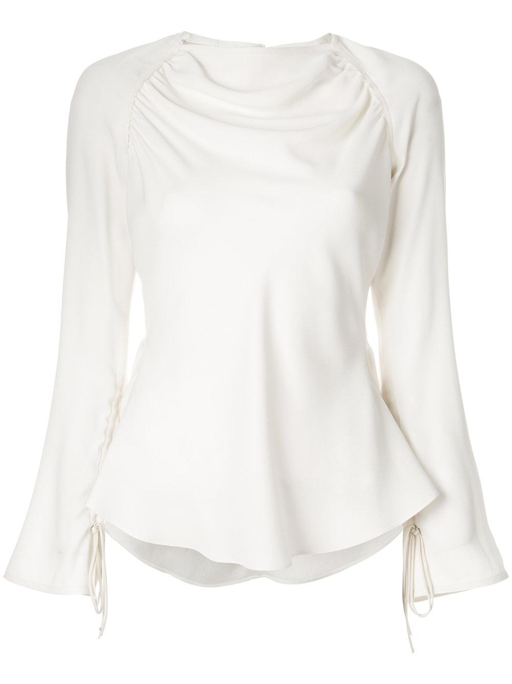 Marni draped peplum blouse