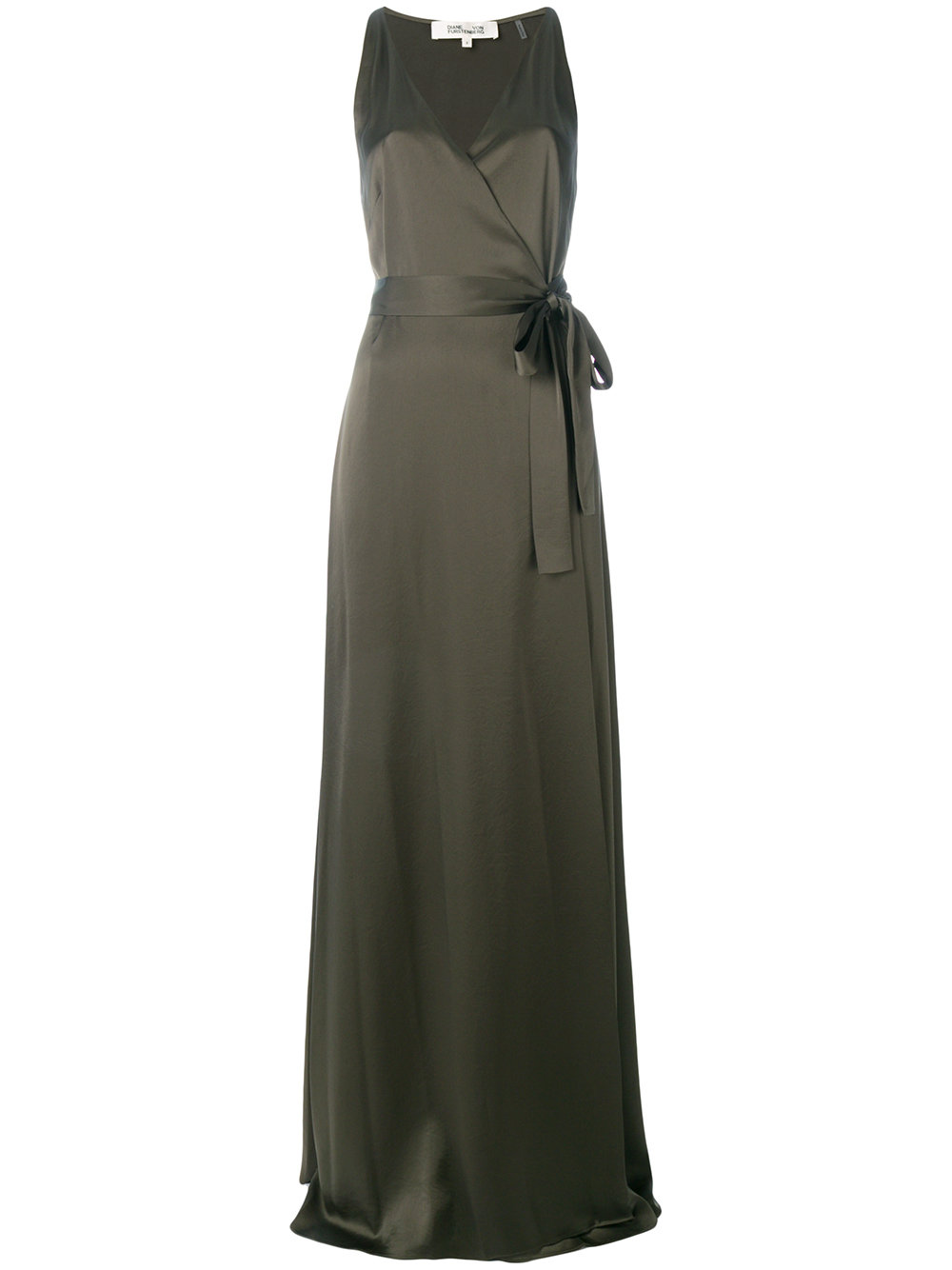 Diane Von Furstenberg wrap front long dress
