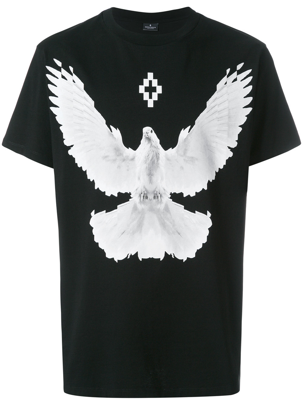 Marcelo Burlon Man DOVE T-SHIRT BLACK MULTICOLOR