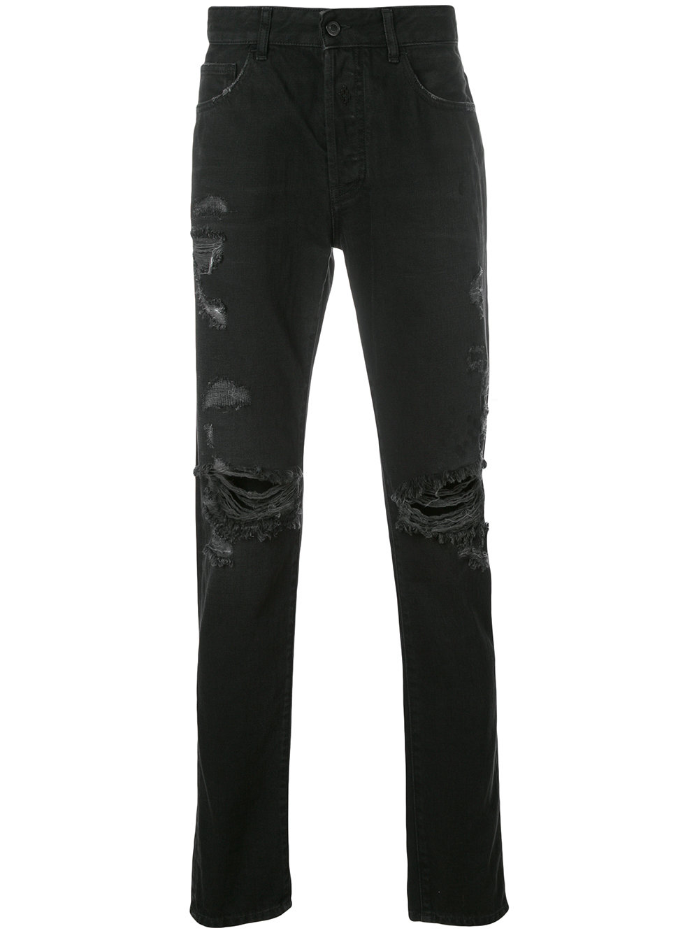 Marcelo Burlon Man BLACK WING SLIM FIT JEANS STRONG WASH BL