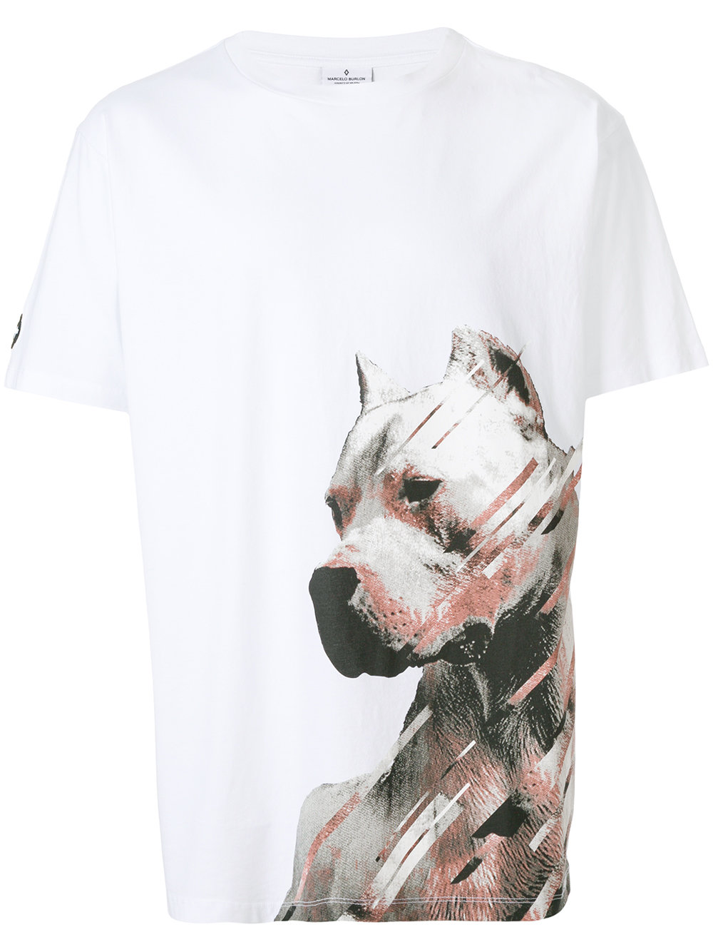 Marcelo Burlon Man DOG T-SHIRT WHITE MULTICOLOR