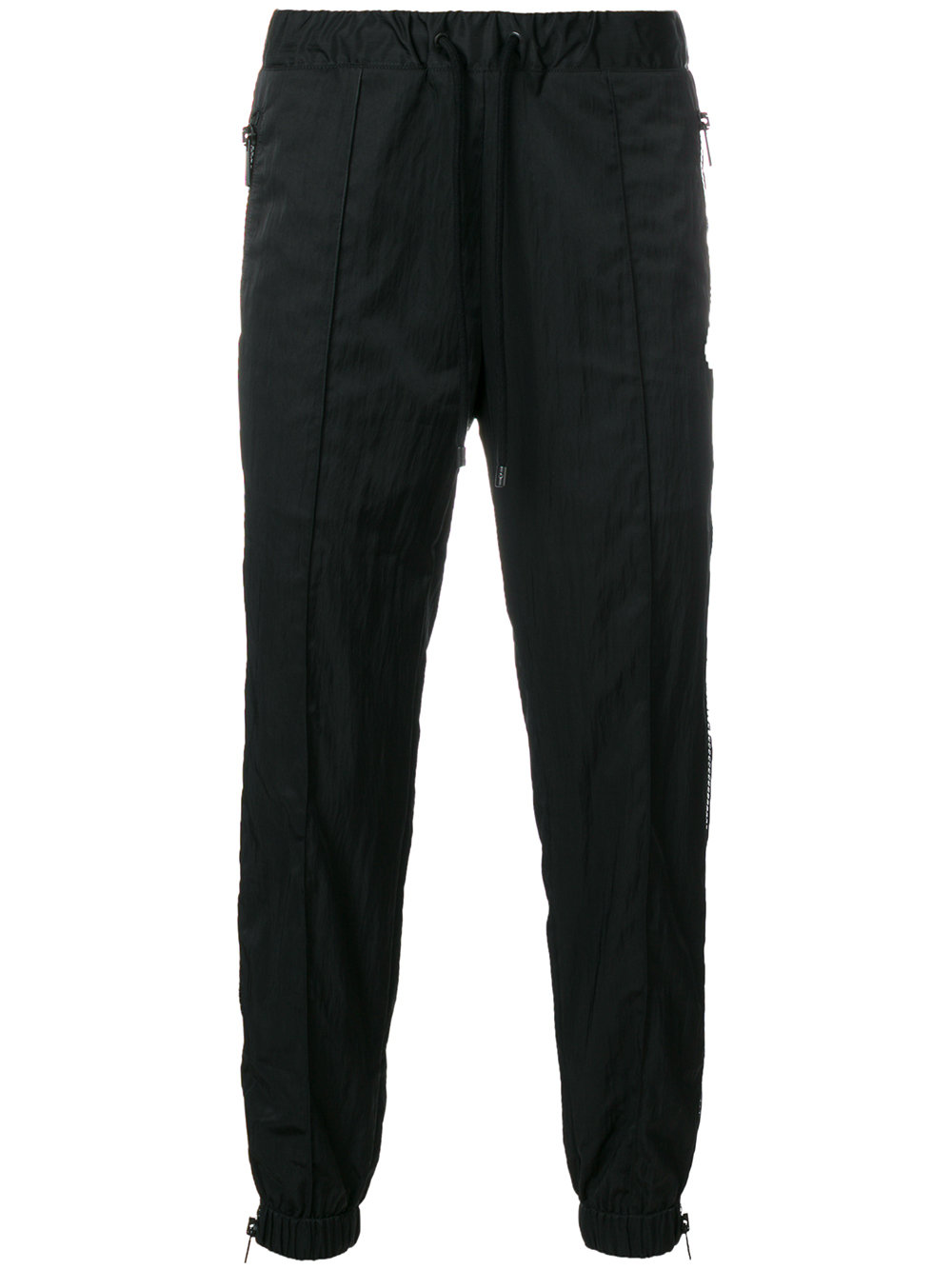 Marcelo Burlon Man ZIPPED PANT BLACK NO COLOR