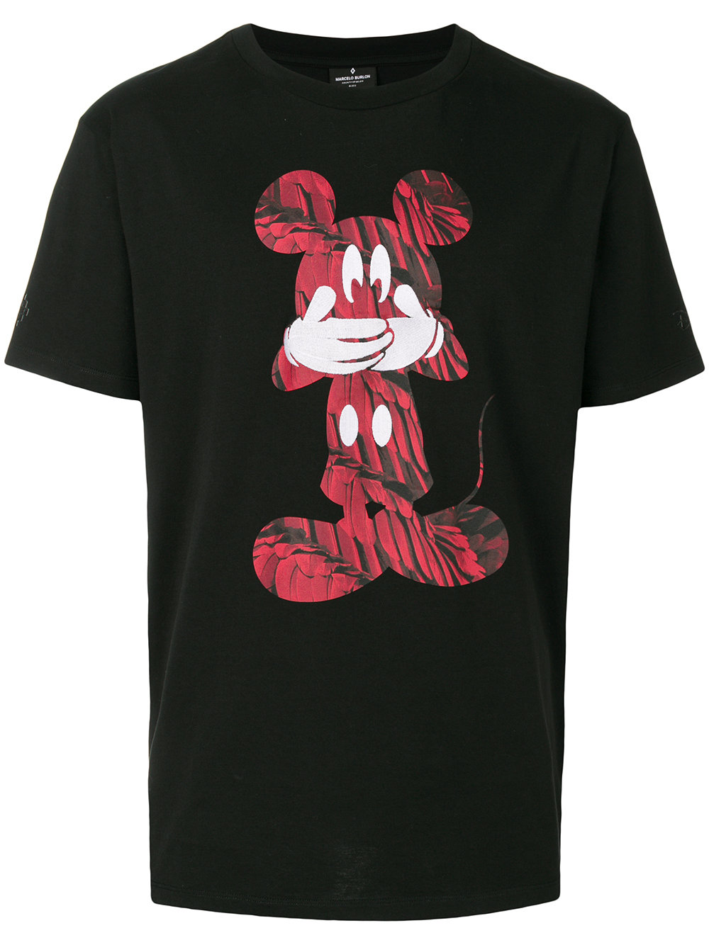 Marcelo Burlon Man MICKEY MOUSE RED T-SHIRT BLACK RED