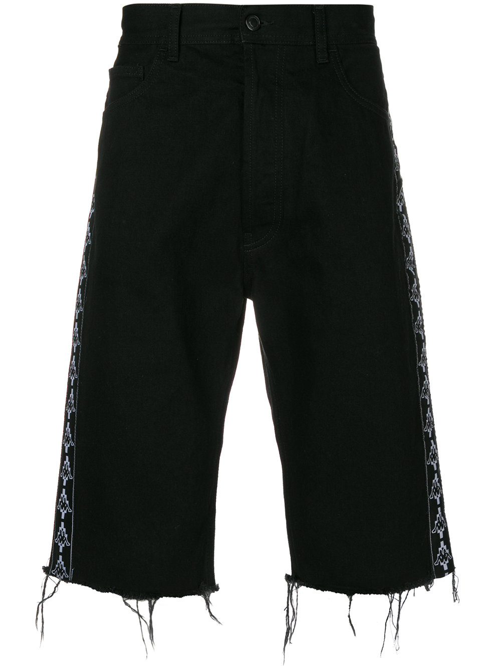Marcelo Burlon Man KAPPA SHORTS DENIM LIGHT WASH BLACK