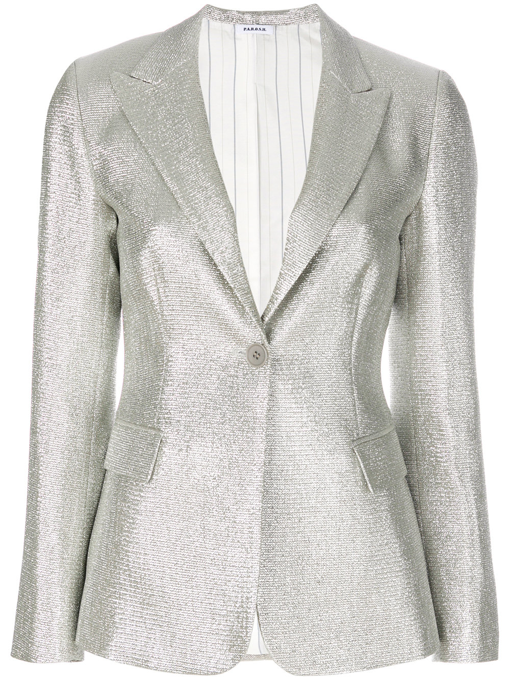 Parosh textured stitch blazer