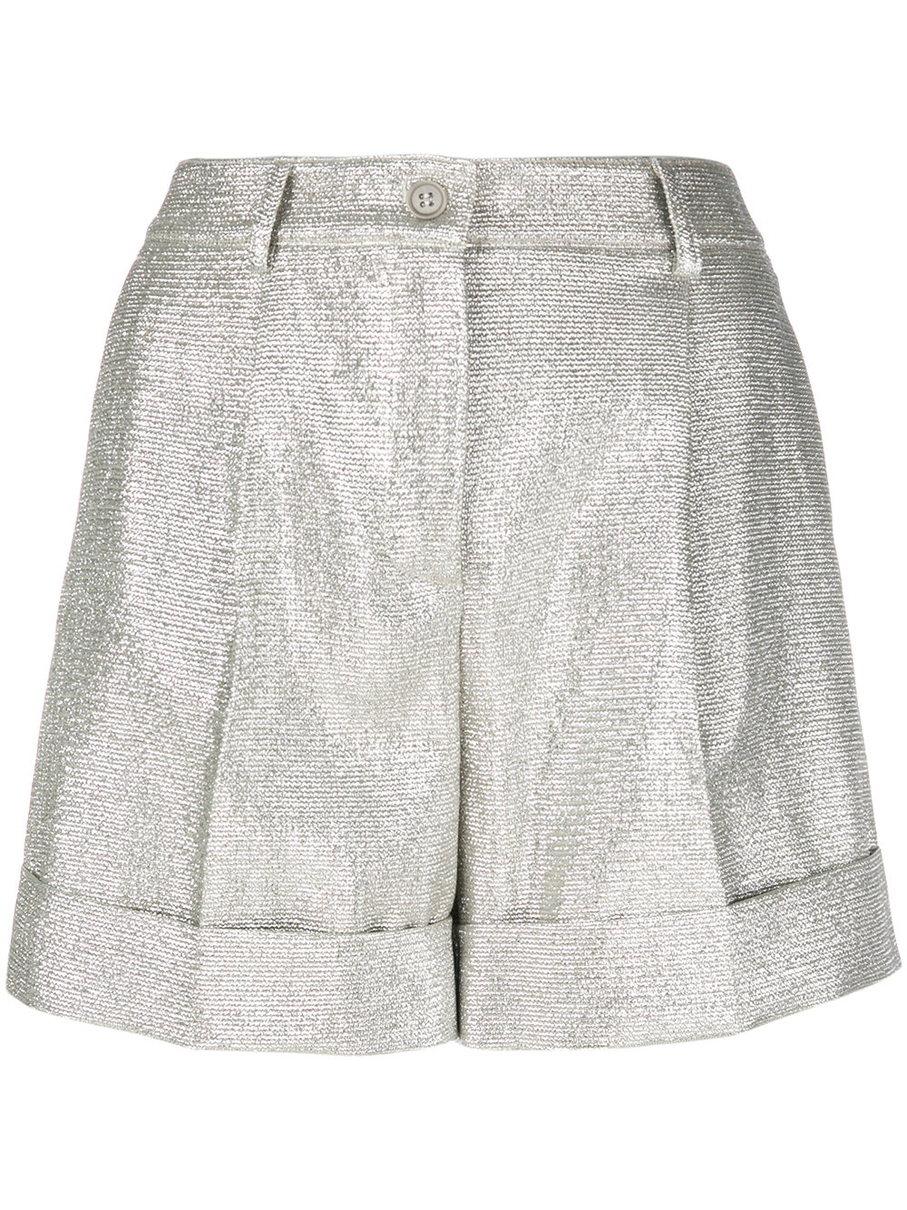 Parosh textured stitch shorts