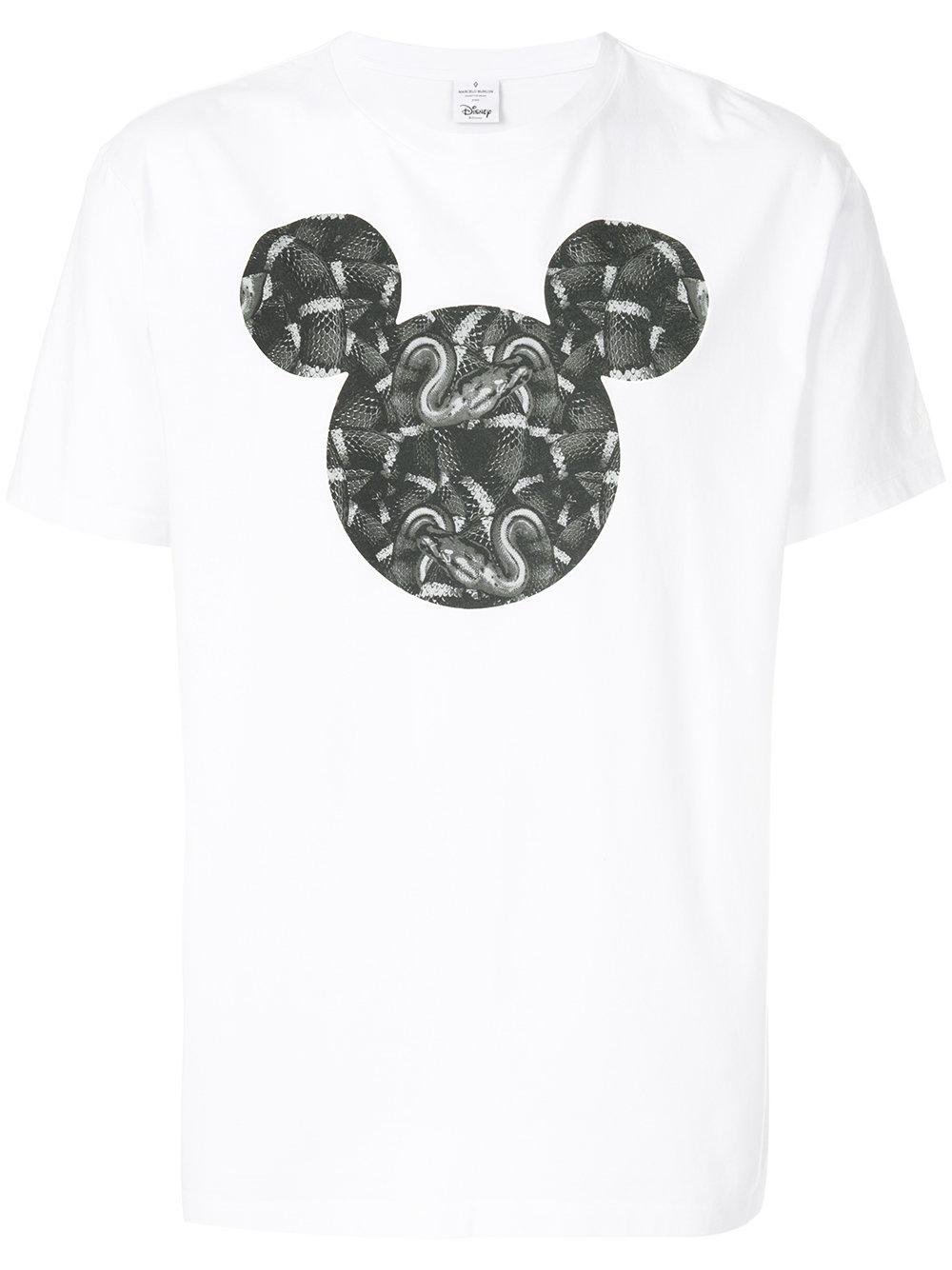 Marcelo Burlon Man MICKEY MOUSE SNAKE T-SHIRT WHITE MULTICO