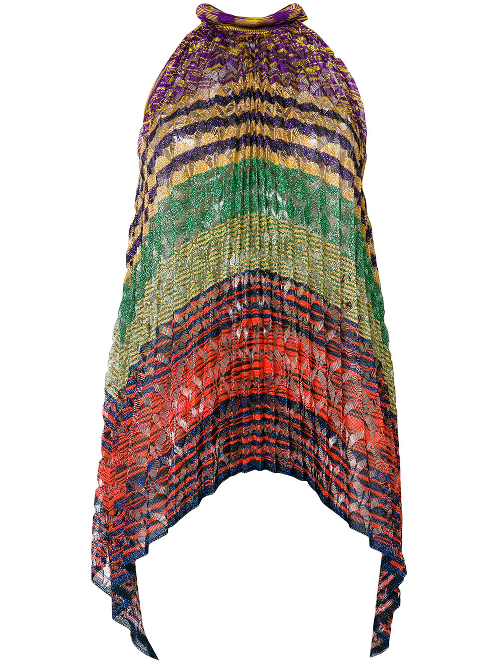 Missoni colour-block pleated blouse