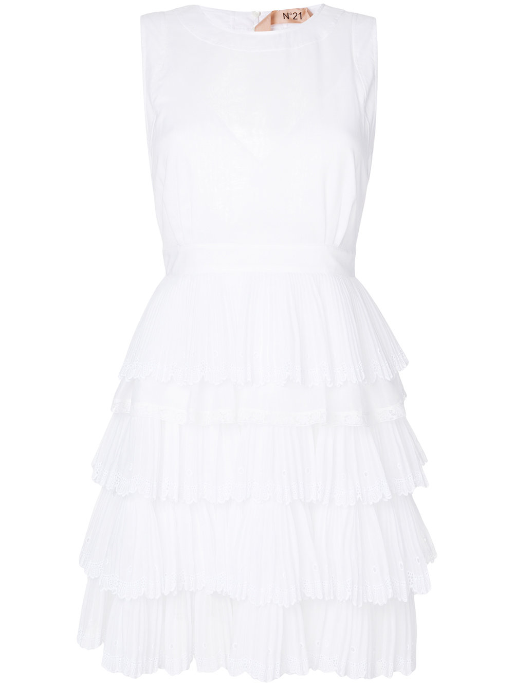 N21 ruffle detail dress