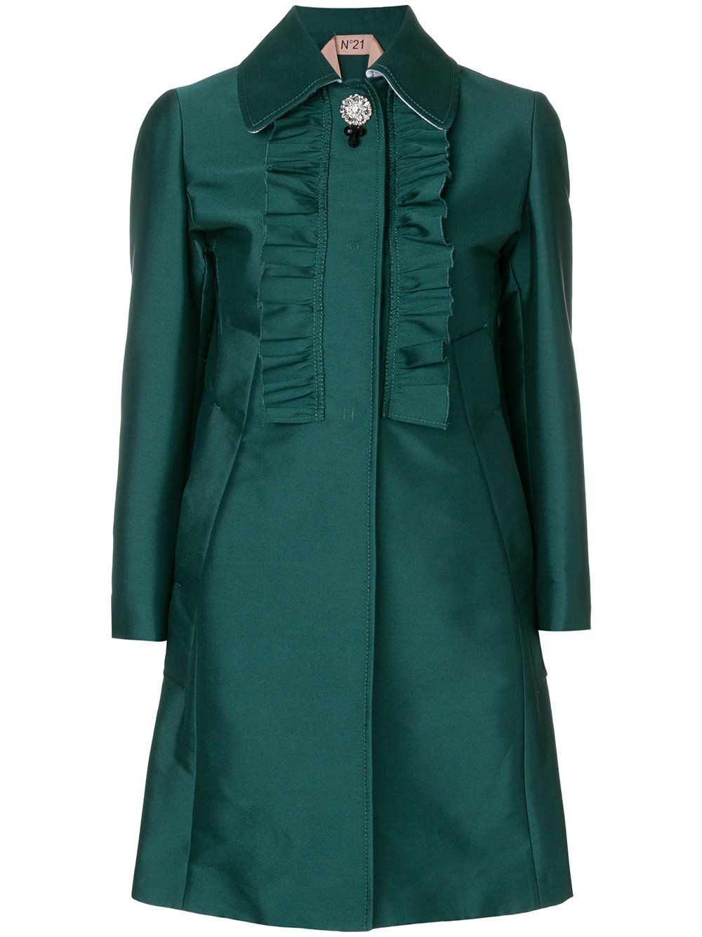 N21 ruffle panel coat
