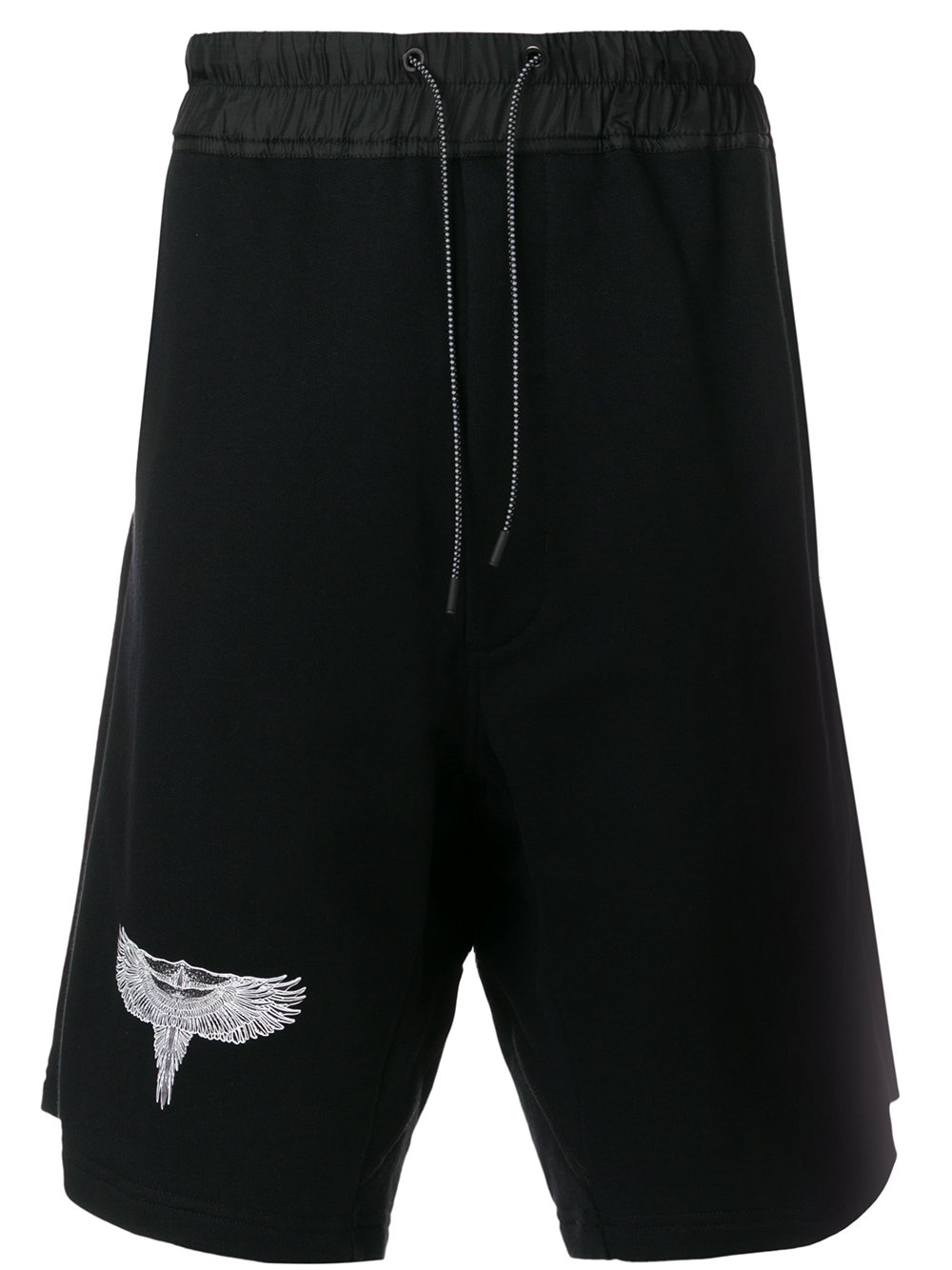 Marcelo Burlon Man DOUBLE WING SHORTS BLACK MULTICOLOR