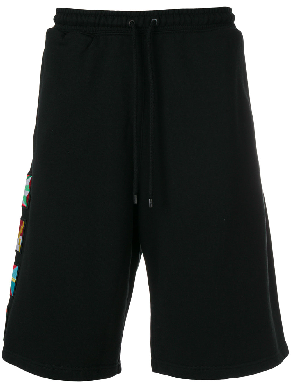 Marcelo Burlon Man FLAGS SHORTS BLACK MULTICOLOR