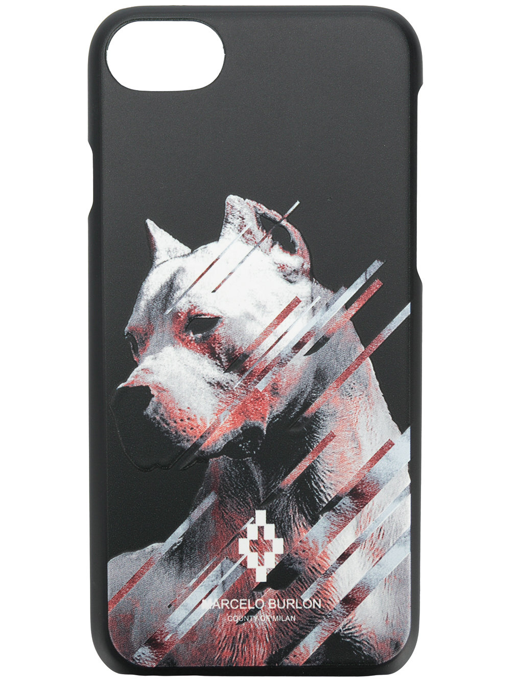 Marcelo Burlon Man DOG 7 CASE BLACK MULTICOLOR