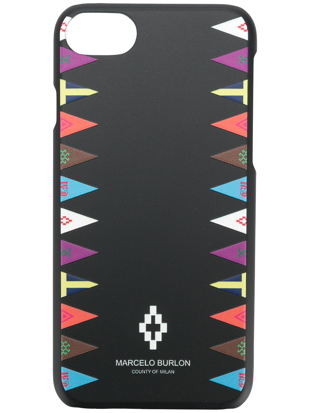 Marcelo Burlon Man FLAGS SIDES 7 CASE BLACK MULTICOLOR