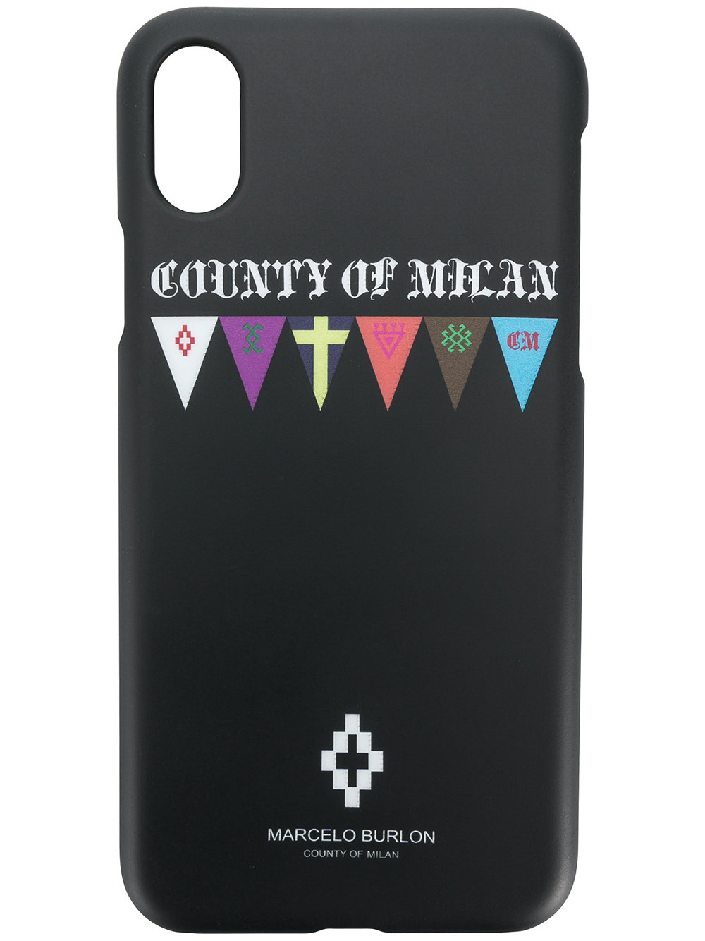 Marcelo Burlon Man FLAGS X CASE BLACK MULTICOLOR