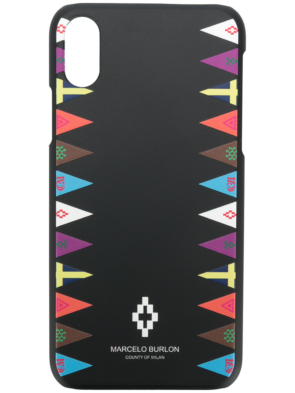 Marcelo Burlon Man FLAGS SIDE X CASE BLACK MULTICOLOR